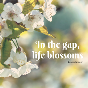 In the gap, life blossoms